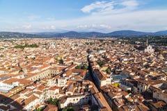 Panorama della città di Firenze Immagine Stock Libera da Diritti