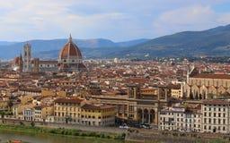 panorama della città di Firenze in Italia Immagini Stock Libere da Diritti