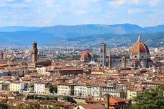 Panorama della città di FIRENZE in Italia con la cupola Fotografia Stock Libera da Diritti