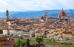 panorama della città di Firenze in Italia da Michelangelo Squa Immagine Stock Libera da Diritti