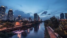 Panorama della città di Jakarta Fotografie Stock