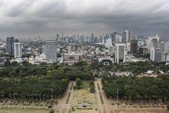 Panorama della città di Jakarta Immagine Stock