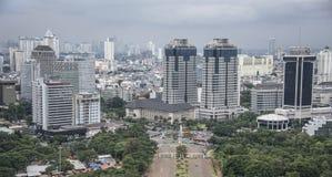 Panorama della città di Jakarta Immagine Stock Libera da Diritti