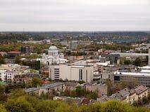 Panorama della città di Kaunas Fotografie Stock