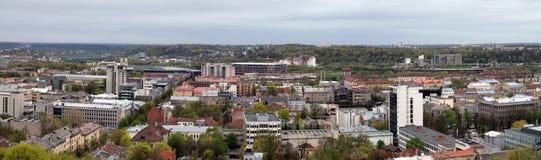 Panorama della città di Kaunas Immagine Stock Libera da Diritti