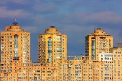 Panorama della città di Kiev Fotografia Stock Libera da Diritti