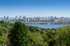 Panorama della città di Kyiv Fotografie Stock