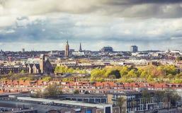 Panorama della città di L'aia Fotografie Stock