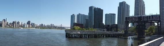 Panorama della città di Long Island a New York Fotografie Stock Libere da Diritti