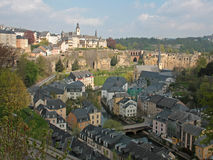 Panorama della città di Lussemburgo Fotografia Stock Libera da Diritti