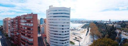 Panorama della città di Malaga Fotografia Stock