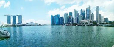 Panorama della città di Marina Bay Singapore immagine stock