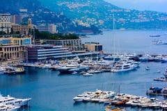 Panorama della città di Monte Carlo. Fotografia Stock Libera da Diritti