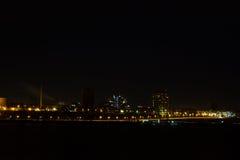 Panorama della città di notte Immagine Stock