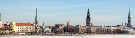 Panorama della città di Riga Fotografia Stock Libera da Diritti