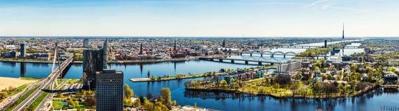 Panorama della città di Riga Fotografie Stock