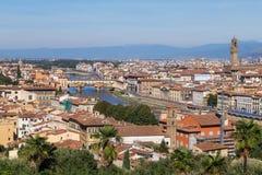Panorama della città di Roma Fotografia Stock
