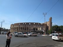 Panorama della città di Roma Vista del Colosseo Fotografie Stock Libere da Diritti