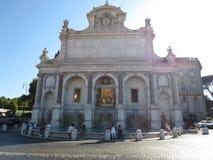 Panorama della città di Roma Vista della fontana in Italia Immagine Stock Libera da Diritti