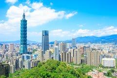 Panorama della città di Taipei Immagini Stock Libere da Diritti