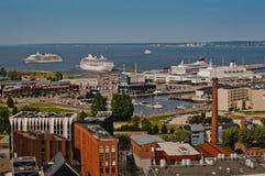 Panorama della città di Tallinn Fotografia Stock