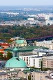 Panorama della CITTÀ di VARSAVIA, chiesa di trinità santa Fotografia Stock Libera da Diritti
