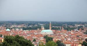 Panorama della città di Vicenza in Italia del Nord Immagini Stock Libere da Diritti