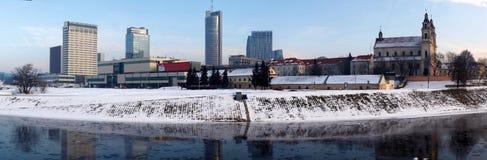 Panorama della città di Vilnius. Immagine Stock Libera da Diritti