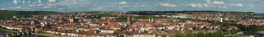 Panorama della città di Wurzburg Immagine Stock Libera da Diritti