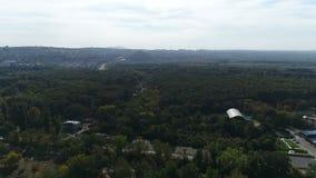 Panorama della città 360 gradi, come lago sopra visto 2 della città stock footage