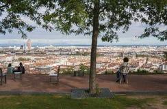 Panorama della città, Lione, Francia Fotografia Stock