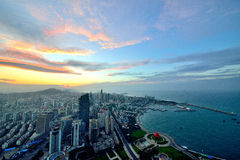 Panorama della città a qingdao Immagine Stock