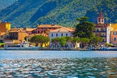 Panorama della città Sulzano Fotografie Stock Libere da Diritti