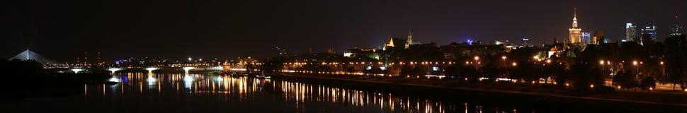 Panorama della città di Varsavia Fotografie Stock Libere da Diritti