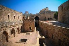 Panorama della cittadella della collina del pellegrino di Raymond de Saint-Gilles aka, Tripoli, Libano fotografia stock libera da diritti