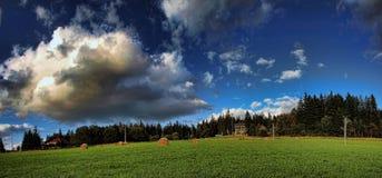 panorama della collina Fotografie Stock