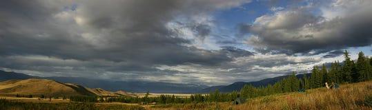 Panorama della collina Immagini Stock Libere da Diritti