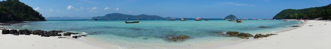 Panorama della costa Fotografia Stock Libera da Diritti