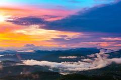 Panorama della costa dalla torre di osservazione sul supporto Akhun immagini stock libere da diritti