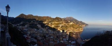 Panorama della costa di Amalfi Immagini Stock