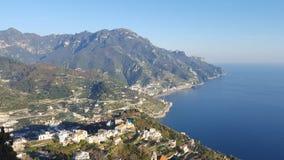 Panorama della costa di Amalfi Fotografia Stock