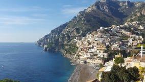 Panorama della costa di Amalfi Immagini Stock Libere da Diritti