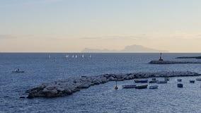 Panorama della costa di Amalfi Immagine Stock