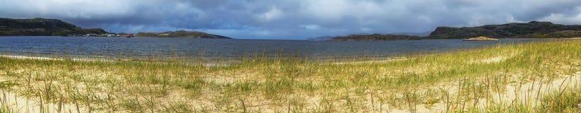 Panorama della costa di Barents Fotografia Stock Libera da Diritti