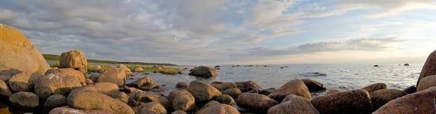 Panorama della costa di mare Immagine Stock