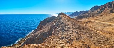 Panorama della costa di Sinai, Egitto fotografia stock libera da diritti