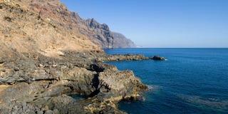 Panorama della costa di Teno immagini stock libere da diritti
