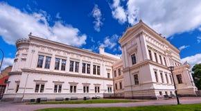 Panorama della costruzione dell'università di Lund Fotografia Stock Libera da Diritti