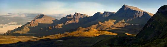 Panorama della cresta di Trotternish fotografia stock