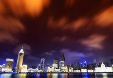Panorama della diga della Cina Schang-Hai Immagini Stock Libere da Diritti